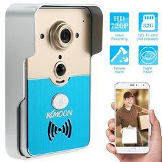 Sonnette P2P sans fil WIFI vidéo porte téléphone interphone   Les téléphones mobiles de soutien et les tablettes avec le système Android et iOS