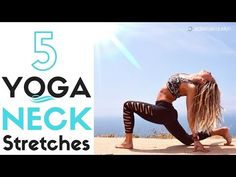 Neck pain can be treated and prevented with yoga neck stretches. Use this video to help you relieve pain in just 5 minutes. Neck Yoga Stretches, Stretching Exercises For Seniors, Neck Exercises, Yoga Neck, Belly Dancing For Beginners, Yoga For Beginners, Beginner Yoga, Yoga With Adriene, Yoga Youtube