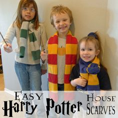 Pieces by Polly: Tutorial: Easy Harry Potter (Hogwarts) House Scarves ** and links to other great Harry Potter crafts
