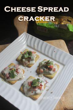 Cheese Spread Crackers Recipe - Easy Party Crackers Recipe