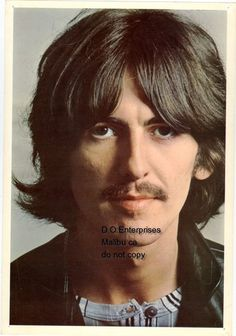 "Beatles photo 8x11"" George Harrison from England to you"