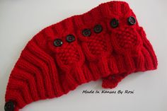 3 Owls Headband/Earwarmer from Made In Kansas By Rosi... on Facebook