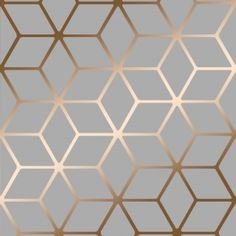 Cubic Shimmer Metallic Wallpaper Grey, Copper (H264974)