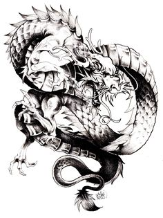 Free coloring page coloring-adult-dragon-chine. The dragon, one of the main symbols of China