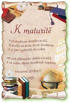 Blahopřání k maturitě skládané - Skyblue. Runes, Retro, Books, Appliques, Tattoo, Riveting, Libros, Neo Traditional, Book