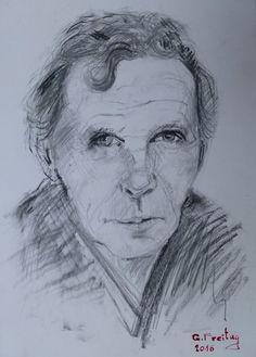 Portreti i Ali Podrimjës vjen i shkrirë nga dora e piktorit Gazmend Freitag (Foto)