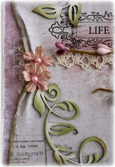 Pulled edge Tutorial great for shabby chic or vintagy layouts