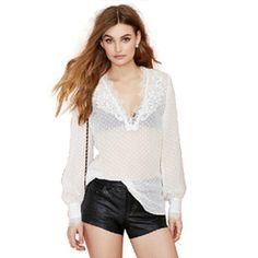Buy V Neck Lantern Sleeve Long Sleeve Blouses & Shirts Online at Low Cost from Blouses & Shirts Wholesalers | DHgate.com