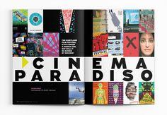 May Cinema Paradiso. Photography by Justin Tsucalas. Magazine Layouts, Magazine Design, Magazine Spreads, Magazine Covers, Editorial Layout, Editorial Design, Layout Inspiration, Graphic Design Inspiration, Design Squad