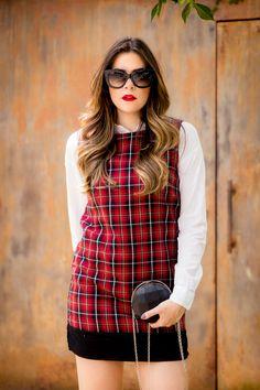 vestido xadrez alice's pig