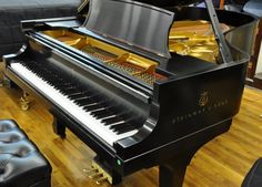 Shiny, black Steinway. One day you'll be mine! I'll play you for hours! And hopefully not disturb my neighbors. LOL