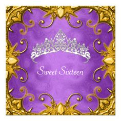 =>quality product          Purple Sweet 16 Birthday Party Gold White Tiara Announcements           Purple Sweet 16 Birthday Party Gold White Tiara Announcements in each seller & make purchase online for cheap. Choose the best price and best promotion as you thing Secure Checkout you can trust ...Cleck See More >>> http://www.zazzle.com/purple_sweet_16_birthday_party_gold_white_tiara_invitation-161916883517154910?rf=238627982471231924&zbar=1&tc=terrest