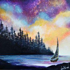 Original landscape and seascape paintings