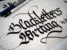 Blackletter Practicing by Jackson Alves, via Flickr
