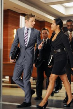 Matt Czuchry and Monica Raymund in The Good Wife