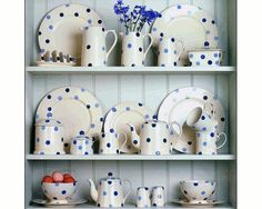 Carvills | Blue Spotted Crockery, Crockery Collection, Fairmont and Mains Crockery Set