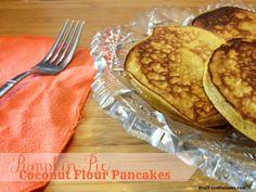 Pumpkin Pie Coconut Flour Pancakes #RealFoodOutlaws