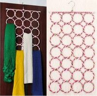 Wish | Multi-use 9/12/16/20/28 Hole Ring Rope Scarf Wrap Shawl Storage Holder Hanger Organizer