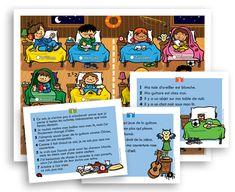 Jeux de lecture -Pirates - Pompiers - Enfants du camp
