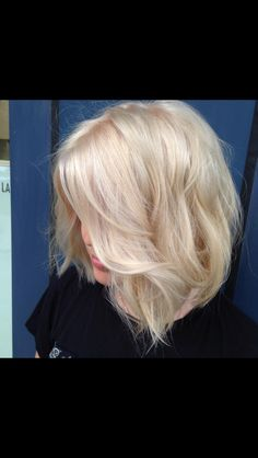 Creamy blond hair created by Sara Burke using LaBiosthetique colour.