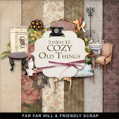 Far Far Hill - Free database of digital illustrations and papers: New Freebies Kit - Cozy Old Things