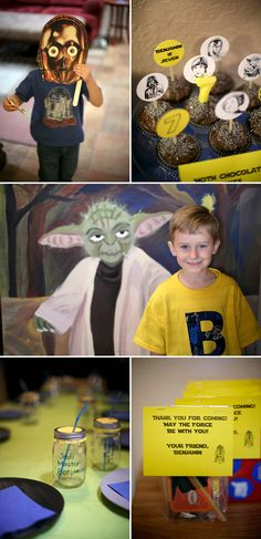Star Wars birthday party - so cute!
