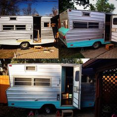 """Aw here it is The Aristocrat so close to being finished - all we need are cushions and a mattress and to adjust some doors. Soon the """"GoGo"""" of VintaGoGo shall ride! #vintage #retro #rustic #rv #camper #vintagecamper #retrocamper #aristocrat #vintagestyle #retrostyle #rusticstyle #tinyhouse #onwheels #vintageshop #reclaimed #restoration #renovation #recycle #reuse #salvage #vintagogo by vintagogo_signs_and_pinstripes"""