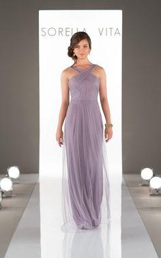8828 Flowing Criss-Cross Strap Bridesmaid Dress by Sorella Vita