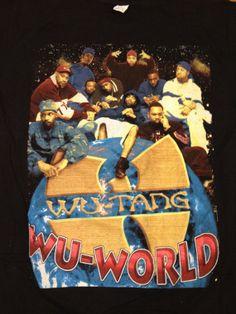 03564b703ce960 Ultra Rare Vintage DEADSTOCK 90 s WU WORLD T-Shirt  wutang  wutangclan   wuworld