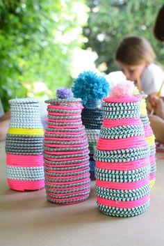 make paracord vases