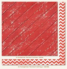 My Mind's Eye - On The Bright Side Collection - One - 12 x 12 Double Sided Paper - Red Wood at Scrapbook.com $0.99