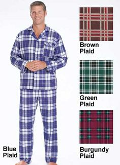 Men's Flannel Pajamas from Carol Wright Gifts on Catalog Spree, my personal digital mall.