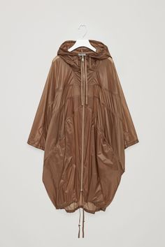 COS image 5 of Oversized transparent parka in Brown