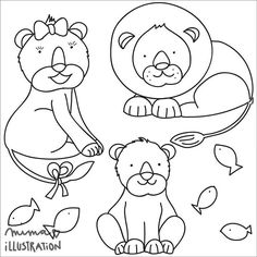 This are the #lions made for postcard for Sezam association. Lions are made just with outlines that the kids could colored the postcard. The postcard is made for collecting donations. I like the way that is not just a postcard but also like coloring book.  The original postcard also have some words but it's in my language so I drop that out. What do you think do you like it? by matejalukezic