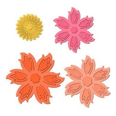 "Aster Flower Topper | Spellbinders Approximate Die Template Sizes:  Flower Center: 1⅜"" Aster Flowers: 1: 2⅜"" 2: 2⅝"" 3: 3"""