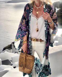 Everkaki Boho Print Long Coat Kimono Women Summer Beach Loose Gypsy Ladies Vintage Kimono Coats Female 2020 Spring Autumn New - multicolor,one-size Swim Cover, Cover Up, Nespresso, Bohemian Kimono, Boho Hippie, Textiles, Swimwear Fashion, Monokini, Blouses For Women