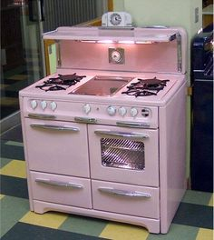 vintage pink dream stove