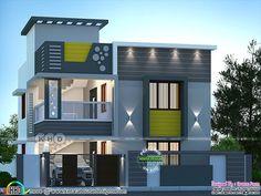 Ranch Style Floor Plans, Modern House Floor Plans, Home Design Floor Plans, Modern House Facades, My House Plans, Modern Architecture, House Paint Design, House Design Photos, Cool House Designs