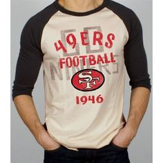 4969f3276 Junk Food San Francisco 49ers Rookie Raglan Quarter Sleeve T-Shirt -  Tan Black. Nfl JetsNfl San FranciscoNew York ...