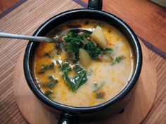 Olive Garden Zuppa Toscana. Tried and true, approved by former Olive Garden chefs. I've made this several times and always get asked for the recipe. It's delish!