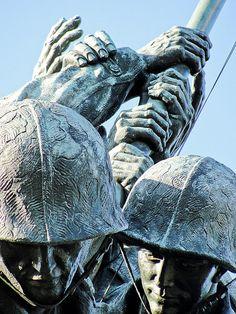 U.S. Iwo Jima Memorial (detail). Arlington National Cemetery, Virginia | Flickr: Tamar Marie