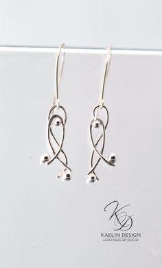 Silver Dancer Earrings Handmade Silver Jewelry by Kaelin Design