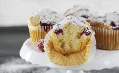 Proste muffiny z malinami, bez cukru | Ania gotuje