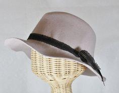 Jack wool felt wide brim women's fedora hat in by bonnetboutique
