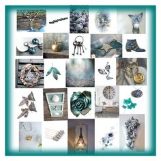 """Turquoise"" by treasury ❤ liked on Polyvore featuring art"