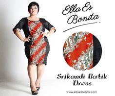 Srikandi Batik Dress - This bodycon batik dress features high quality stretch twill and batik cotton, polyesther batik cotton, and silk batik which specially designed for sophisticated curvy women originally made by Indonesian Designer & Local Brand: Ella Es Bonita. Available at www.ellaesbonita.com