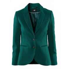 Long Sleeve Lapel Button Blazer ($29) ❤ liked on Polyvore featuring outerwear, jackets, blazers, blazer, green jacket, button jacket, button blazer, lapel blazer and lapel jacket