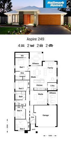 59 ideas outdoor kitchen design floor plans dream homes for 2020 Hallmark Homes, Alfresco Area, Home Design Floor Plans, My House Plans, Storey Homes, Outdoor Kitchen Design, House Design, Flooring, Separate