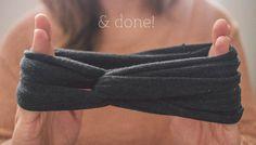 DIY no-sew turban headscarf/headwrap
