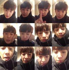 Chanyeol Cute, Park Chanyeol, Kyungsoo, Baby Park, Heart Meme, Fall In Luv, Chansoo, Exo Members, Boyfriend Material
